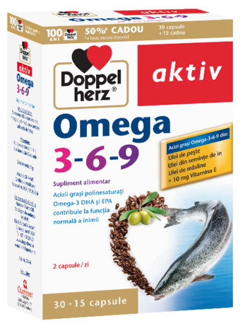 30+15 GRATUIT Doppelherz aktiv Omega 3-6-9