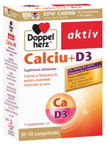 30+10 GRATUIT Doppelherz aktiv Calciu+D3
