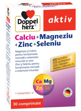 Doppelherz aktiv Calciu + Magneziu + Zinc + Seleniu