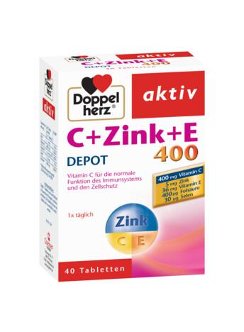 Doppelherz aktiv C + Zink + E 400 DEPOT