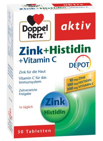 Doppelherz aktiv Zinc + Histidină + Vitamina C DEPOT